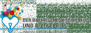 Logo des Bayerischen Gesundheits- und Pflegepreis für den moio.care 2019 nominiert wurde.