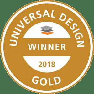Auszeichnung für den Gewinn des Universal Design Awards 2018