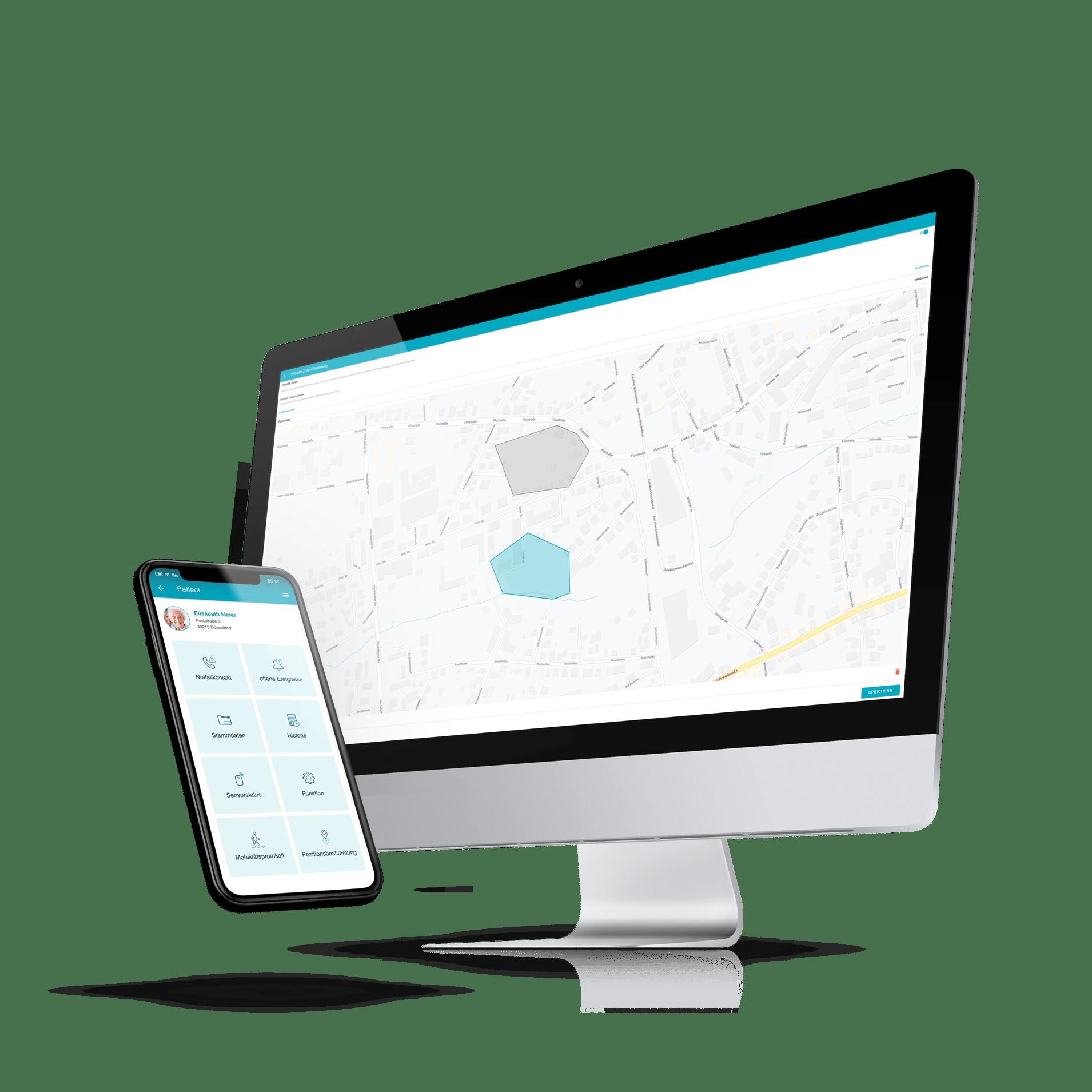 moio.care App für Desktop und Smartphone
