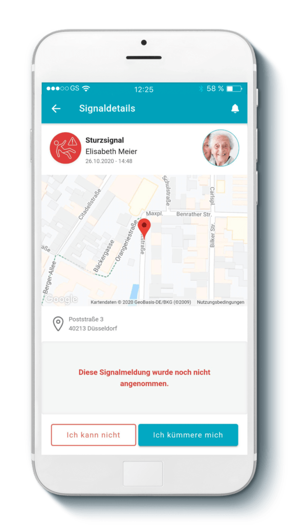 moio.care App Signaldetails