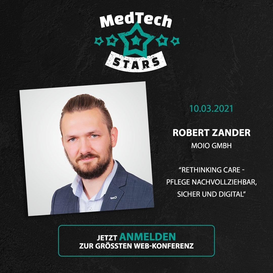MedTech Stars Veranstaltungsbild mit Speaker Robert Zander